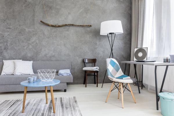 home interior in grey Stock Photo 05