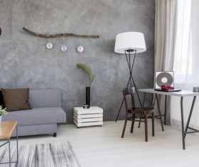 home interior in grey Stock Photo 06