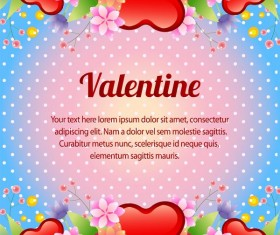 valentine card blue background vector