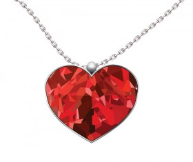 valentine heart medlion isolated on white background vector