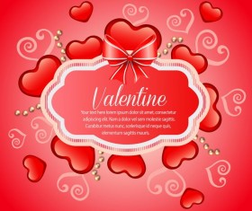 valentine heart shape card vector material