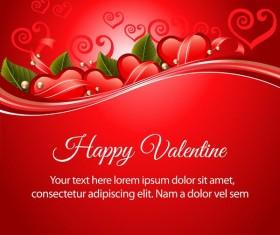 valentine red heart vector design