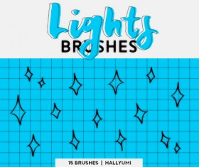 15 Lights Photoshop Brushes