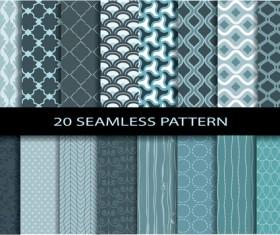 20 Kind seamless pattern vintage vector