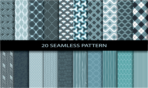 20 Kind seamless pattern vintage vector