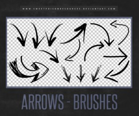 Abstract Arrow Photoshop Brushes