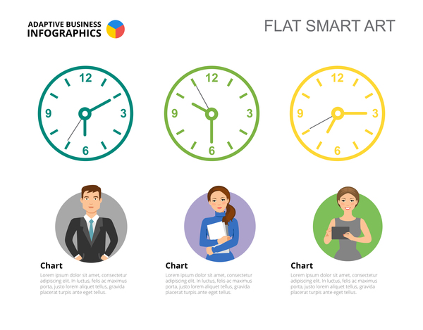 Adaptive business infographic flat template vector 14