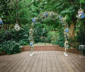 All kinds of beautiful wedding arch Stock Photo 01