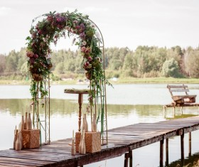 All kinds of beautiful wedding arch Stock Photo 02