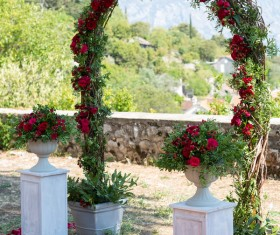 All kinds of beautiful wedding arch Stock Photo 03