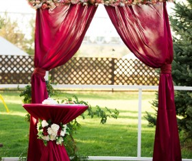 All kinds of beautiful wedding arch Stock Photo 08