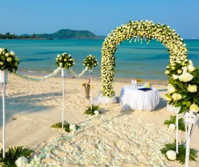 All kinds of beautiful wedding arch Stock Photo 11