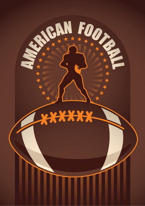 American football poster template vector