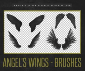 Angel Wings Photoshop Brushes