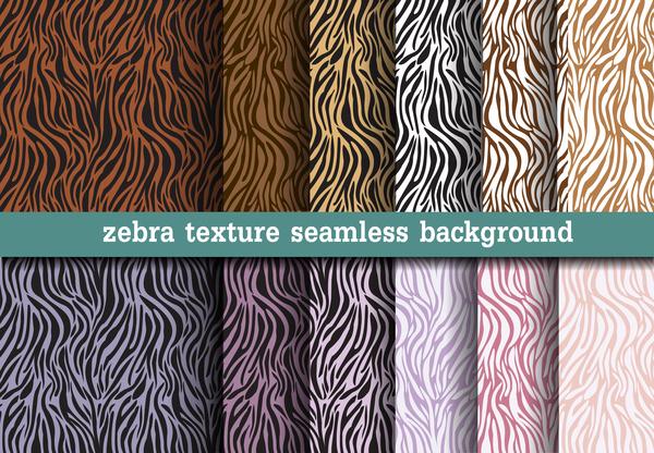 Animal zebra texture seamless pattern vector