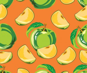 Apple green pattern seamless vectors 01