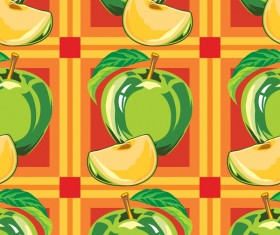 Apple green pattern seamless vectors 02