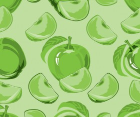 Apple green pattern seamless vectors 03