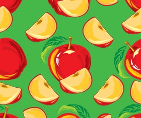 Apple red pattern seamless vectors 02