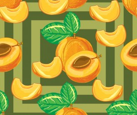Apricot pattern seamless vector