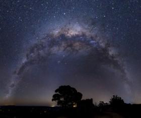 Beautiful sparkling starry sky Stock Photo