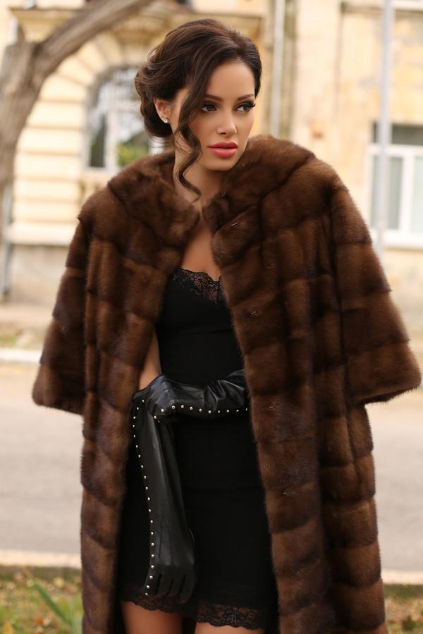 Beautiful woman in fur coat Stock Photo 03