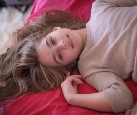 Beautiful young Russian girl Stock Photo