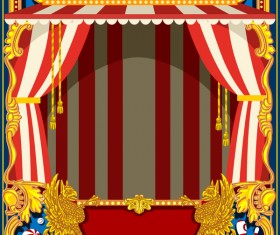 Blank carnival poster template vectors 01