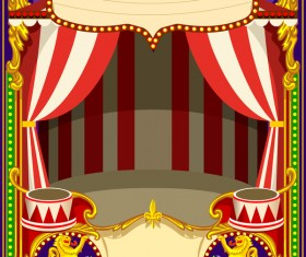Blank carnival poster template vectors 02