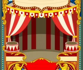 Blank carnival poster template vectors 03