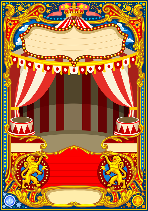 blank carnival poster template vectors 03 free download