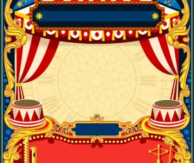 Blank carnival poster template vectors 04