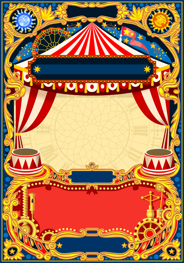 blank carnival poster template vectors 04 free download