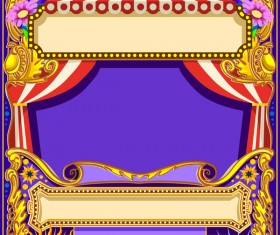 Blank carnival poster template vectors 05