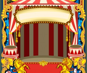 Blank carnival poster template vectors 06
