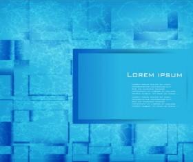 Blue fashion art background vector