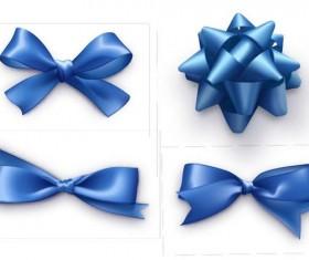 Blue ribbon bows vector material 03
