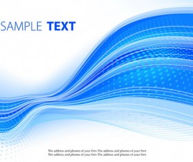 Blue wavy lines abstract background vector 02
