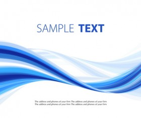 Blue wavy lines abstract background vector 03