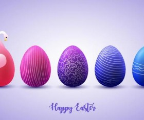 Blue with purple easter egg illustration vector