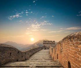 China Travel Great Wall Stock Photo
