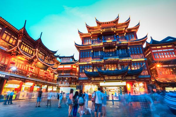 China Travel Wangfujing Night Market Stock Photo