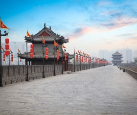 China travel ancient city wall Stock Photo