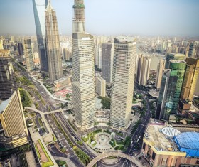 Chinese modern city Stock Photo 01