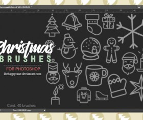Christmas Hand Drawn Photoshop Brushes