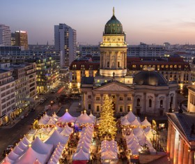 Christmas day decoration beautiful city Stock Photo 01