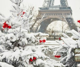 Christmas day decoration beautiful city Stock Photo 03