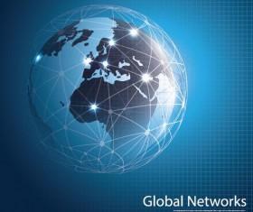Clobal network business template vector 03