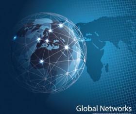 Clobal network business template vector 04