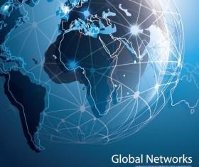 Clobal network business template vector 05